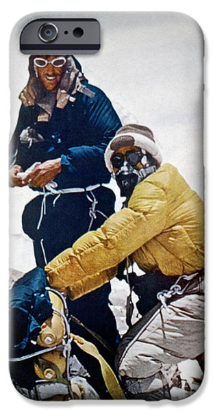 Exploration iPhone Cases - Sir Edmund Hillary iPhone Case by Granger