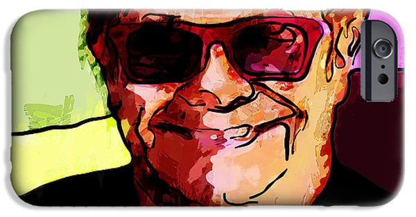 Elton John Paintings iPhone Cases - Sir Elton John iPhone Case by Vya Artist