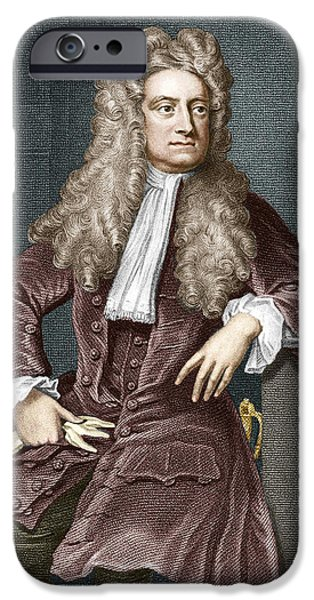 Calculus iPhone Cases - Sir Isaac Newton, British Physicist iPhone Case by Sheila Terry