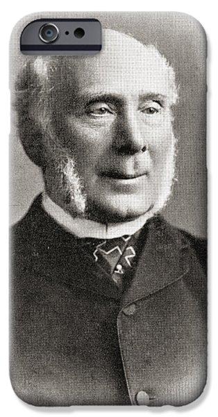 Politician iPhone Cases - Sir John Barran, 1st Baronet, 1821 iPhone Case by Ken Welsh
