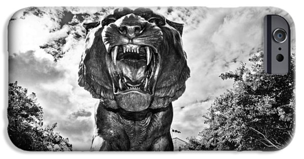 Mike The Tiger iPhone Cases - Sir Mike iPhone Case by Scott Pellegrin