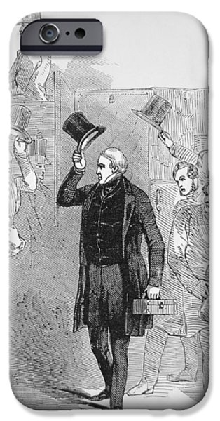 Police iPhone Cases - Sir Robert Peel arriving at the House of Commons iPhone Case by English School