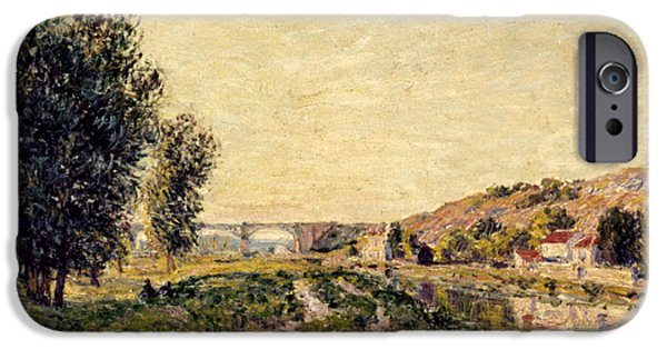 1884 iPhone Cases - Sisley: Landscape, 1884 iPhone Case by Granger