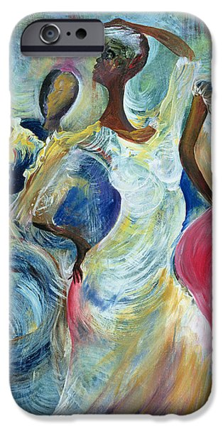 Figure iPhone Cases - Sister Act iPhone Case by Ikahl Beckford