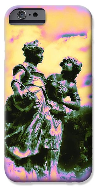 Highlands Digital iPhone Cases - Sisters - Pastel Colors iPhone Case by Bill Cannon