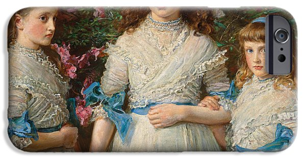 Innocence iPhone Cases - Sisters iPhone Case by Sir John Everett Millais