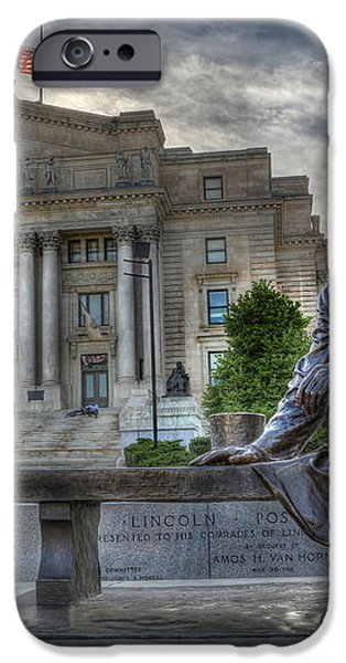 Sit With Me - Seated Lincoln Memorial by Gutzon Borglum  iPhone Case by Lee Dos Santos