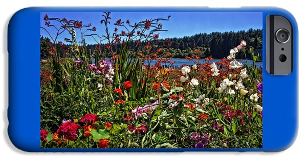 White House iPhone Cases - Siuslaw Floral iPhone Case by Thom Zehrfeld