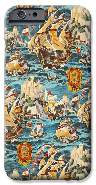 Pirate Ship iPhone Cases - Sixteenth Century Ships iPhone Case by Harry Wearne