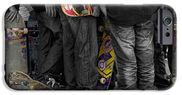 Skateboard iPhone Cases - Skateboarders iPhone Case by Stylianos Kleanthous