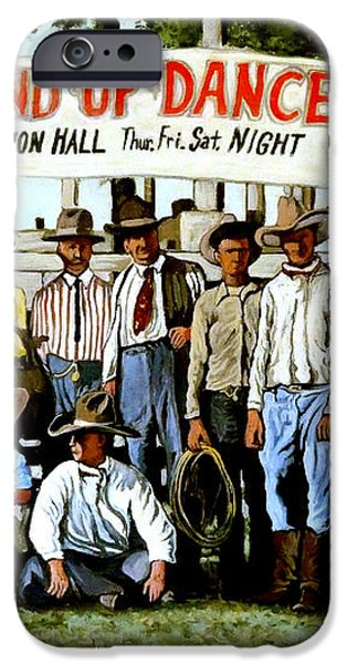 Skeeter Bill's Round Up iPhone Case by Tom Roderick