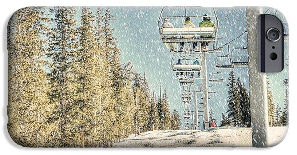 Lifestyle Photographs iPhone Cases - Ski Colorado iPhone Case by Juli Scalzi