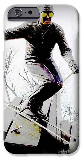Ski on the edge iPhone Case by Michelle Frizzell-Thompson