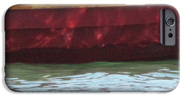 Skiff iPhone Cases - Skiff Reflections iPhone Case by Kelly Mezzapelle