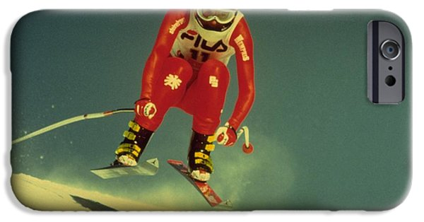 IPhone 6 Case featuring the photograph Skiing In Crans Montana by Travel Pics
