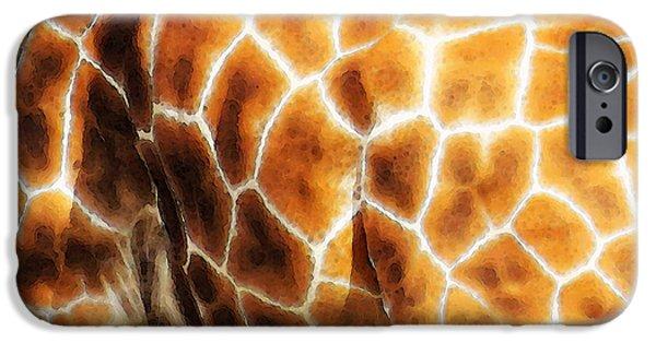 Giraffe Digital iPhone Cases - Skin Deep - Buy Giraffe Art Prints iPhone Case by Sharon Cummings