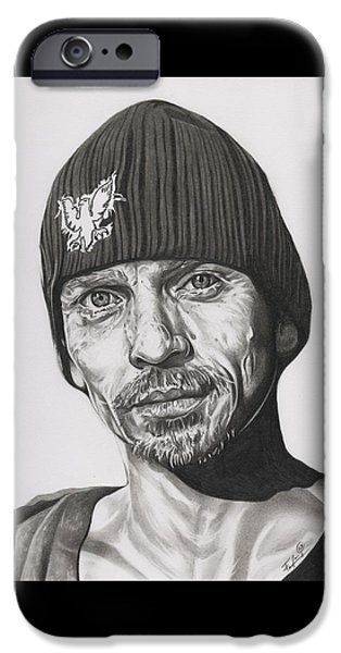 Aaron Drawings iPhone Cases - Skinny Pete  Breaking Bad iPhone Case by Fred Larucci