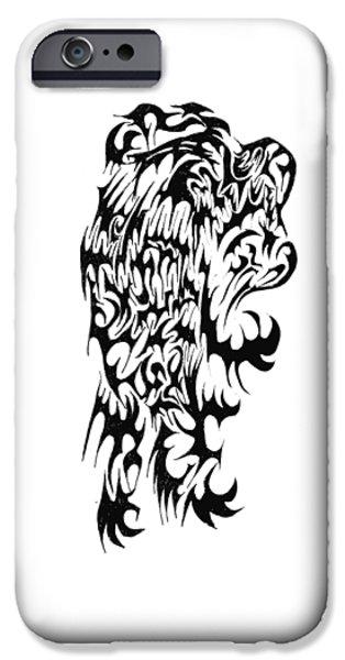 Abstract Digital Drawings iPhone Cases - Skinwalker iPhone Case by AR Teeter