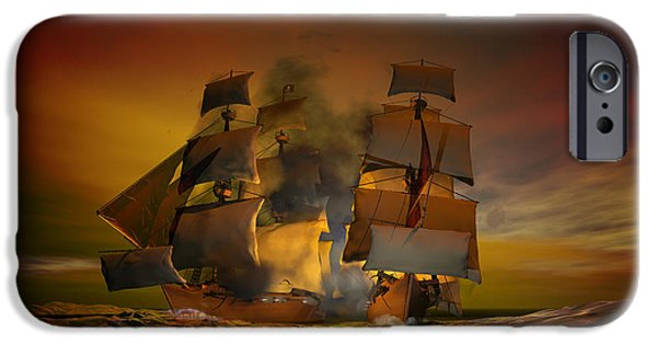 Pirate Ship iPhone Cases - Skirmish iPhone Case by Carol and Mike Werner