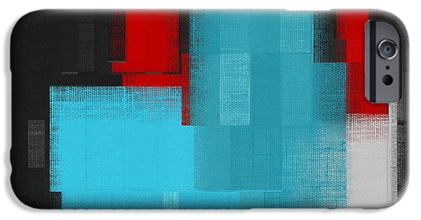 Red Abstract Digital Art iPhone Cases - Skouarios 02a - j036103206 iPhone Case by Variance Collections