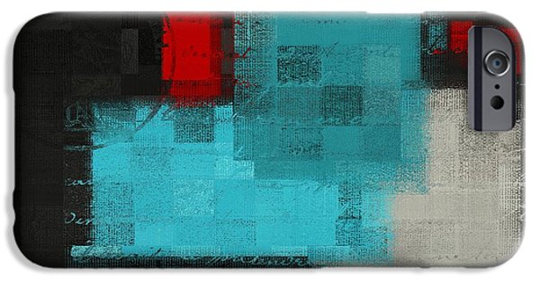 Red Abstract Digital Art iPhone Cases - Skouarios 02atx - j036033097 iPhone Case by Variance Collections