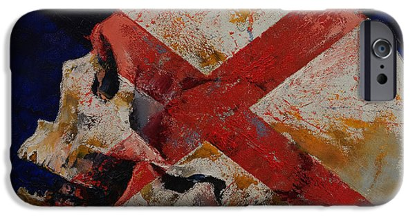 Spooky Paintings iPhone Cases - Inquisition iPhone Case by Michael Creese