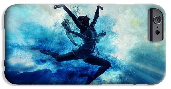 Ballet Dancers iPhone Cases - Sky dancer 2 iPhone Case by Lilia D