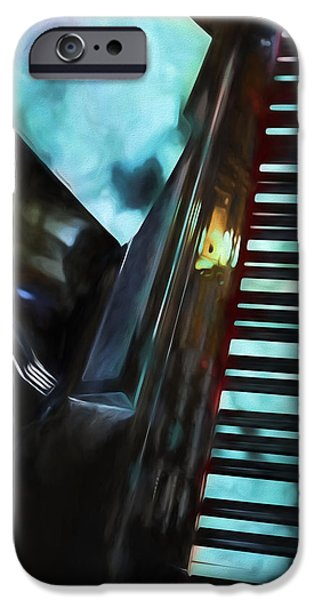 Piano iPhone Cases - Sky Piano iPhone Case by Theresa Campbell