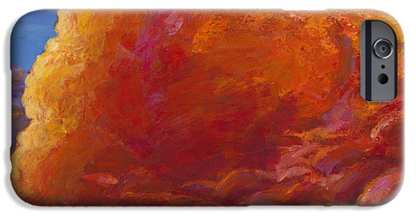 Storm Paintings iPhone Cases - Skydance iPhone Case by Johnathan Harris