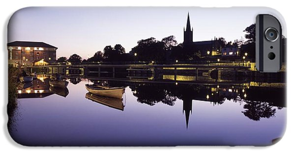 Reflections Of Sun In Water iPhone Cases - Skyline Over The R Garavogue, Sligo iPhone Case by The Irish Image Collection
