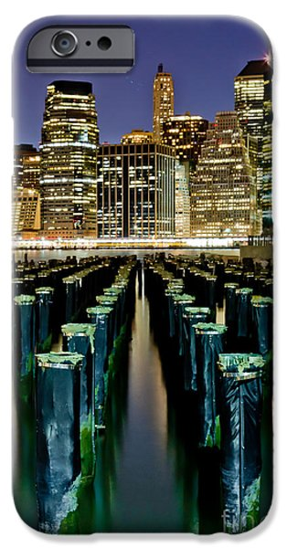 Midtown iPhone Cases - Skyline Perspective iPhone Case by Az Jackson