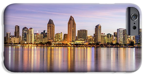 Interior Scene iPhone Cases - Skyline Reflections iPhone Case by Joseph S Giacalone
