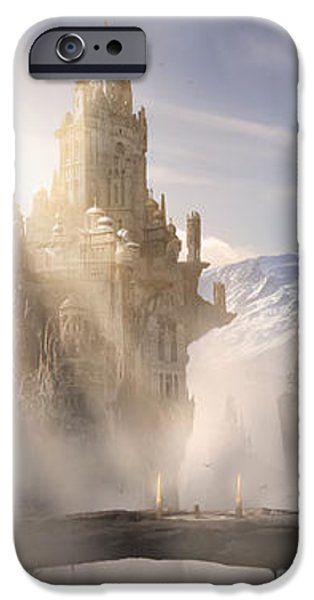 Skyrim Fantasy Ruins iPhone Case by Alex Ruiz