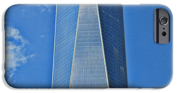 Finance iPhone Cases - Skyscraper Abstract 17 iPhone Case by Allen Beatty