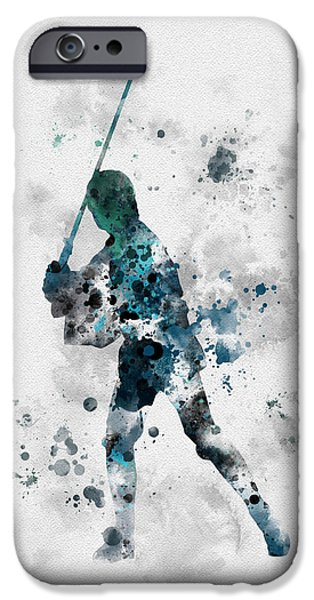 Stars Mixed Media iPhone Cases - Skywalker iPhone Case by Rebecca Jenkins