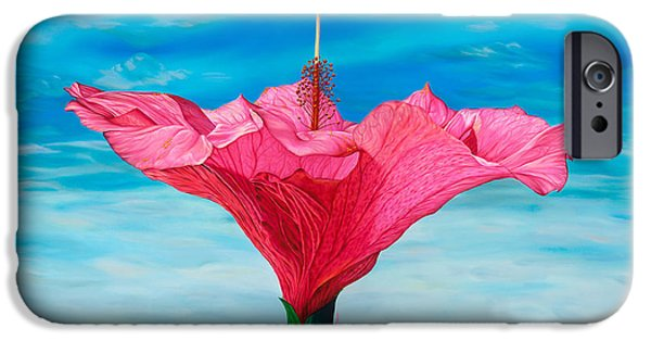 Hibiscus iPhone Cases - Skyward iPhone Case by Kerri Meehan