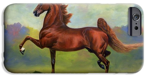 Equine Art iPhone Cases - Skywatch iPhone Case by Jeanne Newton Schoborg