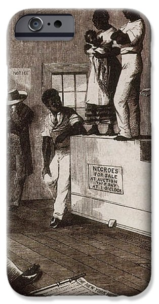 Slave Auction In Virginia iPhone Case by Photo Researchers