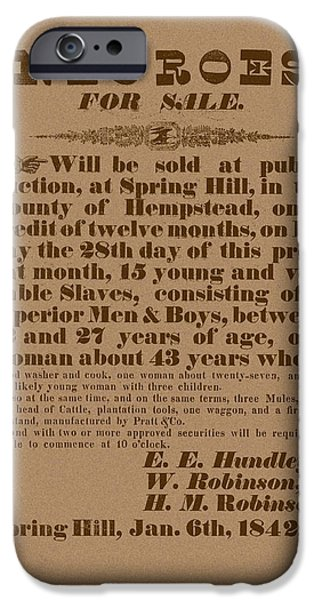 Slave Auction iPhone Case by War Is Hell Store
