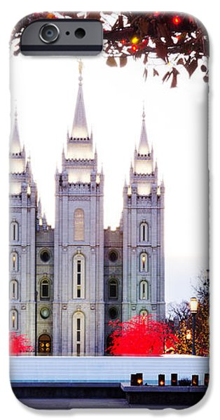 SLC Temple Red and White iPhone Case by La Rae  Roberts