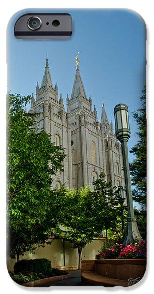 SLC Temple Walk iPhone Case by La Rae  Roberts