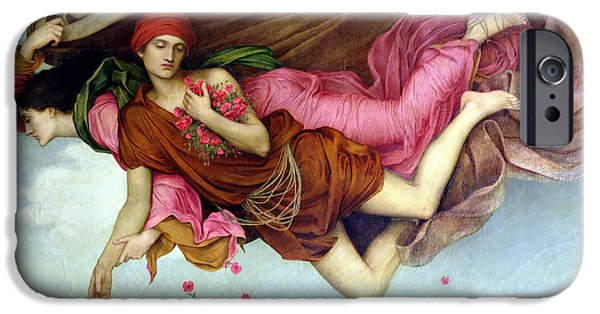 Night Angel Paintings iPhone Cases - Sleep And Night iPhone Case by Evelyn de Morgan