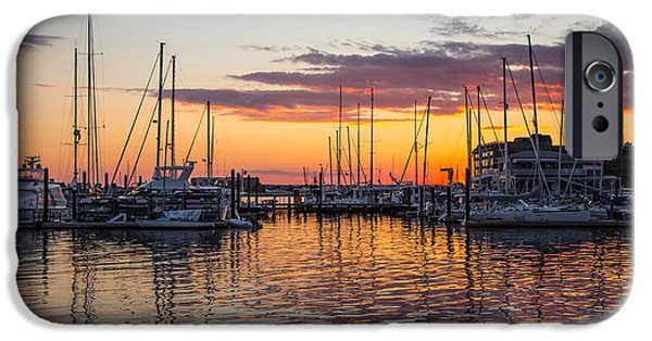 Boats At The Dock iPhone Cases - Sleeping Boats iPhone Case by Karol  Livote