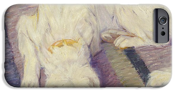 Doggie Art iPhone Cases - Sleeping Dog iPhone Case by Franz Marc