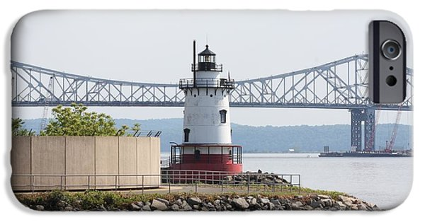 Hudson River iPhone Cases - Sleepy Hollow Lighthouse iPhone Case by John Telfer