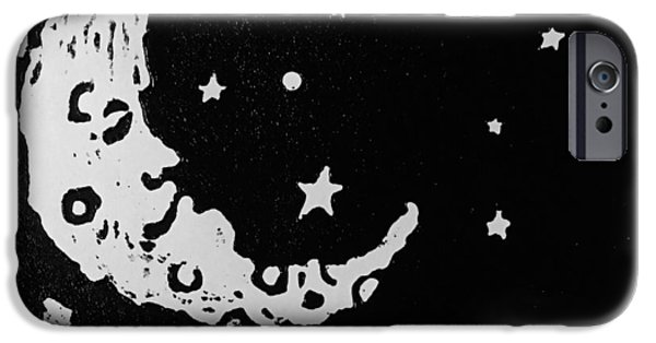 Outer Space Reliefs iPhone Cases - Sleepy Time iPhone Case by Jame Hayes
