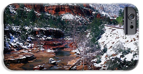 Destiny Photographs iPhone Cases - Slide Rock Creek, Sedona, Arizona iPhone Case by Panoramic Images