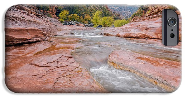 Oak Creek iPhone Cases - Slip and Slide iPhone Case by Aron Kearney Fine Art Photography