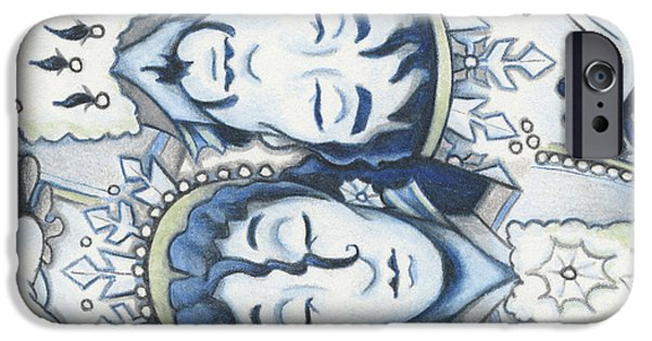 Aceo iPhone Cases - Slumber of the Snows iPhone Case by Amy S Turner