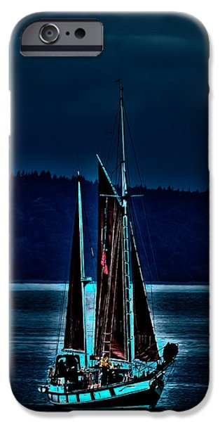Tall Ship iPhone Cases - Small Among the Tall Ships iPhone Case by David Patterson